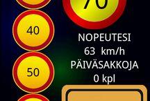 Ylinopeuslaskuri / Sakkolaskurin avulla voit nähdä sakkorangaistuksen suuruuden euroina ylinopeus liikennerikkomuksissa.
