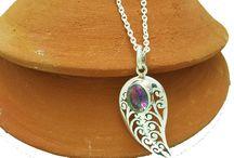 Pendant /Designs/Stone/Silver/Necklace/Jewellery/Gemstone /handmade/Geometric