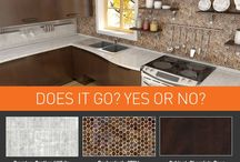 Does It Go? / You decide, Do these Granite Transformations' countertop, backsplash and cabinet combinations combinations go together?