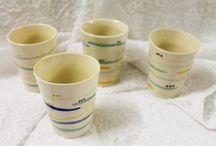 nuestras piezas / En Amasarte además de impartir clases realizamos piezas cerámicas de forma artesanas pero con un toque contemporáneo