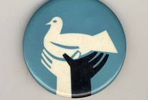 These are a few of our favorite pins / The Swarthmore College Peace Collection's button, pin, and ribbon collection contains over 1,700 items, dating from the late nineteenth century to the present, documenting movements for peace and social justice around the world. Browse the entire collection at http://triptych.brynmawr.edu/cdm/landingpage/collection/Buttons
