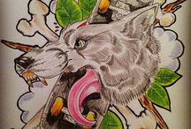 My tattoo designs and drawings / Tattoo designs , various styles of own artwork