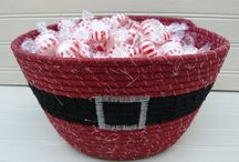 Fabric Baskets - Coiled Rope/Clothesline/Misc