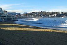 Vagues dans la baie de saint jean de luz au pays basque / A l'occasion des fêtes de Noel à saint jean de luz, au pays basque, la mer agitée a donné de belles vagues, comme belhara mais aussi dans la baie de  la station balnéaire