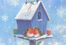 домики новогодние