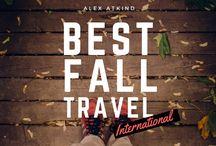 Fall Travel Destinations / Alex Atkind shares top destinations for fall travel in a recent presentation published on Slideshare.