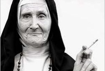 """Nuns with Smoking Habits / I was taught during the last two years of high school by nuns. That was challenging. No matter how good you were at something, they were never happy with you or your work. Enjoy my """"Smoking Nuns with Habits"""" board and feel free to follow or pin any of the images."""