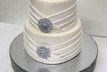 Pleated & drapes wedding cakes
