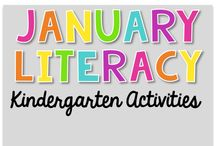 January Literacy {Kindergarten Activities} / January Literacy Activities Daily 5, Read To Self, Read To Someone, Listen To Reading, Work on Writing, Word Work, Assessments, Guided Reading and Literacy Work Stations.
