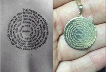"""Tatuagens """"pai nosso"""" / Escrita pai nosso"""