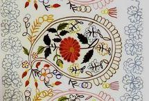chain-stitch / chain-stitch, тамбурный шов, татарская вышивка