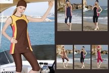 Adabkini's Women Swimsuits / Adabkini is a brand of modest swimwear which includes more than 500 variety of models, colors, and sizes for covered and semi-covered swimwear.