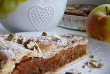 ořechovy koláč s jablky
