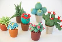 cactus en porcelana fría