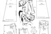Třicátá ... střihy a nákresy // Thirties ... patterns and drawings