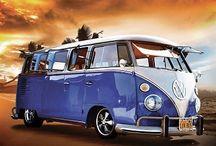 Volkswagen Fotobehang / Diverse soorten en maten Fotobehang met afbeeldingen van de legendarische Volkswagen Bus (VW).