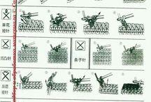 Значки по вязанию с техникой
