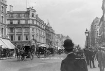 London shops - vintage images / Shopping in London in the late-nineteenth and early twentieth century