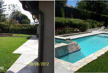 Before and After / We like to show you that the possibilities are endless! Before and after pictures of pools, landscaping, fire pits, outdoor kitchens.