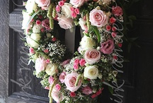 Flower hearts / Take a look at my YouTube channel for my series of 'How to' flower arranging tutorials, practical ideas and tips to create beautiful DIY flower arrangements and crafts at home