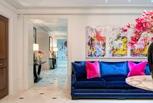 Penchant For Pink - Private London Residence / Disclosing a particular penchant for fuchsia and Schiaparelli pink, the client, an international businessman, briefed us to create a truly magnificent scheme that stood out and created a talking point within his London home. With the focus on colour so integral to the project, we were given full flexibility and trust to work our interiors magic, and ended up creating something truly unique.