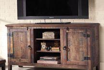 primitive tv stands