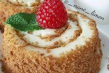 Sütlü kremalı tatlılar pastalar