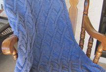 narzuty na drutach / knitting