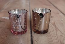Pink & Rose Gold Crackle Tea Light Holders to Hire / Hire these FABULOUS Pink and Rose Gold Crackle Tea Light Holders from £1 each! Only for use with LED tea lights please!!
