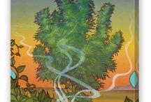 Cannabis Artwork / Retro Cannabis Artwork from GanjaOutpost.com