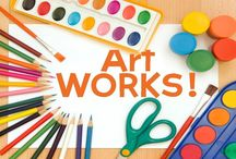 Art Works! / Gallery of art work completed by children participating in our Art Works! Program.