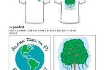 Earth Day / Greek sorority and fraternity custom shirt designs featuring Earth day themes. For more information on screen printing or to get a proof for your next shirt order, visit www.jcgapparel.com
