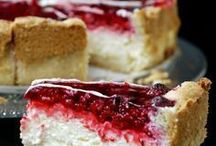 Schmand Himbeeren Kuchen