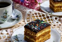 prăjitură cu cremă de vanilie si caramel