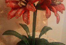 papierowa wiklina -kwiaty