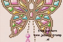 motyle - cross stitch butterflies