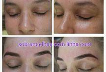 sobrancelhas com linha eyebrowthreading / Designer de sobrancelhas com simetria facial e linha eyebrowthreading - coloração de sobrancelhas e henna para sobrancelhas