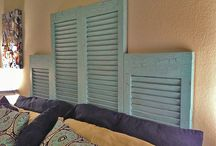 Window Shutter Repurposing Ideas and Reusing Shutters / DIY Window Shutter projects, Shutter furniture, unique shutter usage ideas, shutters and shutter repurposing, shutters uses, reusing shutters, shutter fences, shutters and outdoor furniture, shutter porch projects, indoor furniture made from shutters and everything shutters. / by The Thrifty Couple