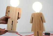 Lustres em madeira