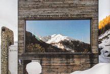 The perfect mountain retreat / #interiors #homedecor #vintage #mountain #chalet #woodinteriors
