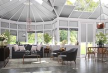 Conservatory Blinds / Interior design inspiration and ideas to transform your conservatory into a comfortable and stylish living space. Conservatory blinds add colour, style to conservatories and garden rooms.