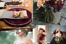Burgundy wedding colors