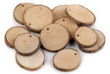 Dřevěné kolečko k dekoracím / Wood Tree Branch Slice DIY