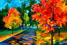 ART/PAINT LEONID AFREMOV / HE HAVE REALLY COLOR IN HIS LIFE.. / by Dorte Rasmussen.Denmark