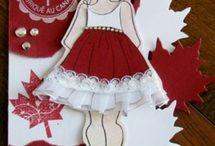 Canada Day Prima Doll Tag