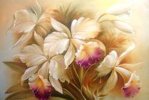 pintura a oleo flores