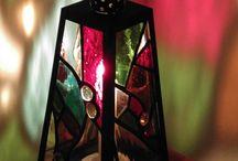 Moja práca / Lampášik vyrobený technikou Tiffany