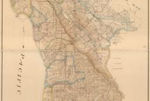 ANTIQUE WORLD MAPS / Typographic, custom lettered, historical & antique maps and reprints.