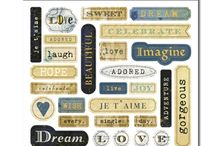 Stickers - Epoxy Words