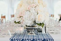 Grandma's 80th Birthday inspiration / Navy, silver & white. Simple, clean & elegant --Daytime event-- / by Monica Stewart